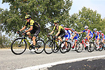 The peloton led by Groupama-FDJ and Mitchelton-Scott during the 99th edition of Milan-Turin 2018, running 200km from Magenta Milan to Superga Basilica Turin, Italy. 10th October 2018.<br /> Picture: Eoin Clarke | Cyclefile<br /> <br /> <br /> All photos usage must carry mandatory copyright credit (© Cyclefile | Eoin Clarke)