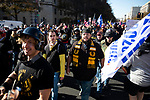 "The Proud Boys joined demonstrators protesting during the ""Million MAGA March"" on November 14, 2020 in Washington, D.C.  Thousands of supporters of U.S. President Donald Trump gathered to protest the results of the 2020 presidential election won by President-Elect Joe Biden.  Photograph by Michael Nagle"