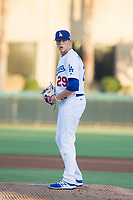AZL Dodgers starting pitcher James Marinan (29) gets ready to deliver a pitch during a game against the AZL Brewers at Camelback Ranch on July 25, 2017 in Glendale, Arizona.  The AZL Dodgers defeated the AZL Brewers 8-3.  (Zachary Lucy/Four Seam Images)