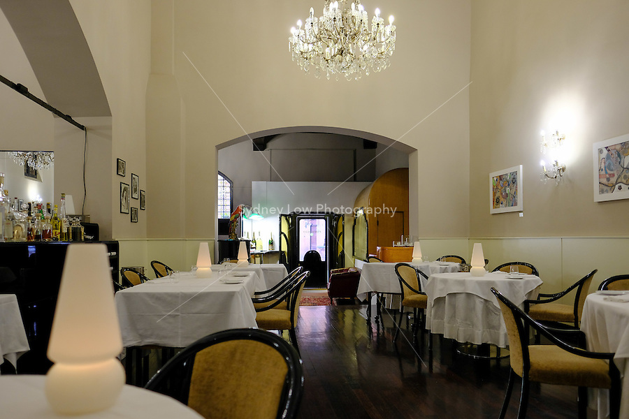 The interior at Pappagallo, Bologna. The Pappagallo Restaurant in Bologna was established in 1919. It continues to serve traditional Bolognese cuisine. Photo Sydney Low