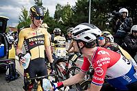 race winner Pascal Eenkhoorn (NED/Jumbo-Visma) with his teammates post-race<br /> <br /> Heylen Vastgoed Heistse Pijl 2021 (BEL)<br /> One day race from Vosselaar to Heist-op-den-Berg (BEL/193km)<br /> <br /> ©kramon