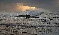 Storm langs de kust van Cape Otway in ochtendlicht