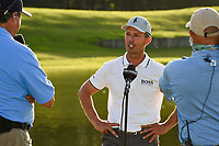 May 2nd 2021; The Woodlands, Texas, USA;  Mike Weir is interviewed after winning the 2021 Insperity Invitational at The Woodlands Country Club on May 2, 2021 in The Woodlands, Texas.