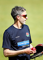 27th May 2021; Emirates Old Trafford, Manchester, Lancashire, England; County Championship Cricket, Lancashire versus Yorkshire, Day 1; Former Lancashire player and current bowling coach Graham Onions before play today
