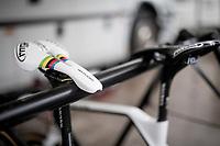 rainbow saddle<br /> CX World Champion Mathieu van der Poel (NED/Corendon-Circus)<br /> <br /> Jaarmarktcross Niel 2019 (BEL)<br /> <br /> ©kramon