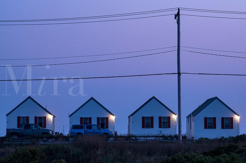 Beach cottages, Truro, Cape Cod, Massachusetts, USA.