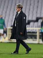 FBL- Friendly  football match Italy vs Estonia at the Artemio Franchi stadium in Florence on November 11, 2020.<br /> Italy's coach Albergo Evani after winning 3-0 the friendly football match between Italy snd Estonia at the Artemio Franchi stadium in Florence on November 11, 2020. <br /> UPDATE IMAGES PRESS/Isabella Bonotto