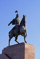 Manas-Denkmal am Ala Too Ajanti (Platz), Bishkek, Kirgistan, Asien<br /> Manas Monument at Ala Too Ajanti (square), Bishkek, Kirgistan, Asia