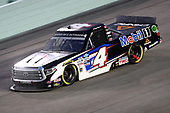 HOMESTEAD, FLORIDA - JUNE 13: Raphael Lessard, driver of the #4 Mobil 1 Toyota, races during the NASCAR Gander RV & Outdoors Truck Series Baptist Health 200 at Homestead-Miami Speedway on June 13, 2020 in Homestead, Florida. (Photo by Chris Graythen/Getty Images)