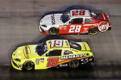 #19: Brandon Jones, Joe Gibbs Racing, Toyota Supra Menards/SoleusAir #28: Shane Lee, H2 Motorsports, Toyota Supra Tamron