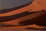 Shifting sand dunes, Namib Desert