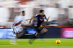 Sergi Roberto Carnicer, S Roberto, of FC Barcelona is followed by a Rayo Vallecano player during the La Liga 2018-19 match between Rayo Vallecano and FC Barcelona at Estadio de Vallecas, on November 03 2018 in Madrid, Spain. Photo by Diego Gouto / Power Sport Images