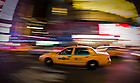 Nov. 18, 2010; Taxi in Times Square, New York City..Photo by Matt Cashore/University of Notre Dame