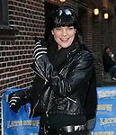 NEW YORK, NY - FEBRUARY 28: Actress Pauley Perrette visits 'Late Show With David Letterman' at Ed Sullivan Theater on February 28, 2012 in New York City.