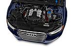 Car stock 2014 Audi S4 Base 4 Door Sedan engine high angle detail view