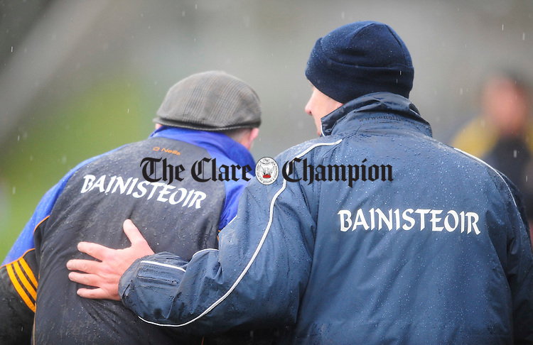Mick O'Dwyer and Frank Doherty.Pic Arthur Ellis. NFL Clare v Wicklow at Cusack Park.Pic Arthur Ellis.