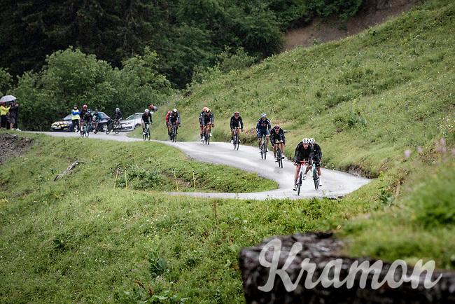 descending the Col du Pré (HC/1748m) towards the Barrage de Roselend in, yet again, grim conditions.<br /> <br /> Stage 9 from Cluses to Tignes (145km)<br /> 108th Tour de France 2021 (2.UWT)<br /> <br /> ©kramon