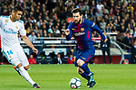 Lionel Andres Messi of FC Barcelona in action during the La Liga 2017-18 match between FC Barcelona and Real Madrid at Camp Nou on May 06 2018 in Barcelona, Spain. Photo by Vicens Gimenez / Power Sport Images