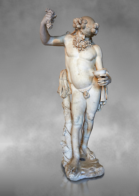 """"""" Silenus Drunk """" - A 2nd century AD Roman sculpture made from marble from Paros. Silenus was described as the oldest, wisest and most drunken of the followers of Dionysus, the god of wine. When intoxicated, Silenus was said to possess special knowledge and the power of prophecy. From the Ancient Royal Collection of France inv MR 343 (or MA 291) previously held at Versailles. Louvre Museum Paris."""