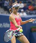 August 29,2017:   Elise Martens (BEL) loses to Madison Keys (USA) 6-3, 7-6, at the US Open being played at Billy Jean King Ntional Tennis Center in Flushing, Queens, New York.  ©Leslie Billman/CSM/CSM