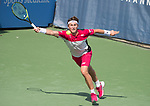 July 31,2017:   Casper Rudd (NOR) loses to Tommy Paul (USA) 3-6, 7-5, 3-0, at the Citi Open being played at Rock Creek Park Tennis Center in Washington, DC, .  ©Leslie Billman/Tennisclix/CSM