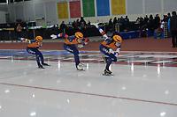 SPEEDSKATING: 13-02-2020, Utah Olympic Oval, ISU World Single Distances Speed Skating Championship, Team Sprint Ladies, Femke Kok, Jutta Leerdam, Letitia de Jong, Team NED, ©Martin de Jong