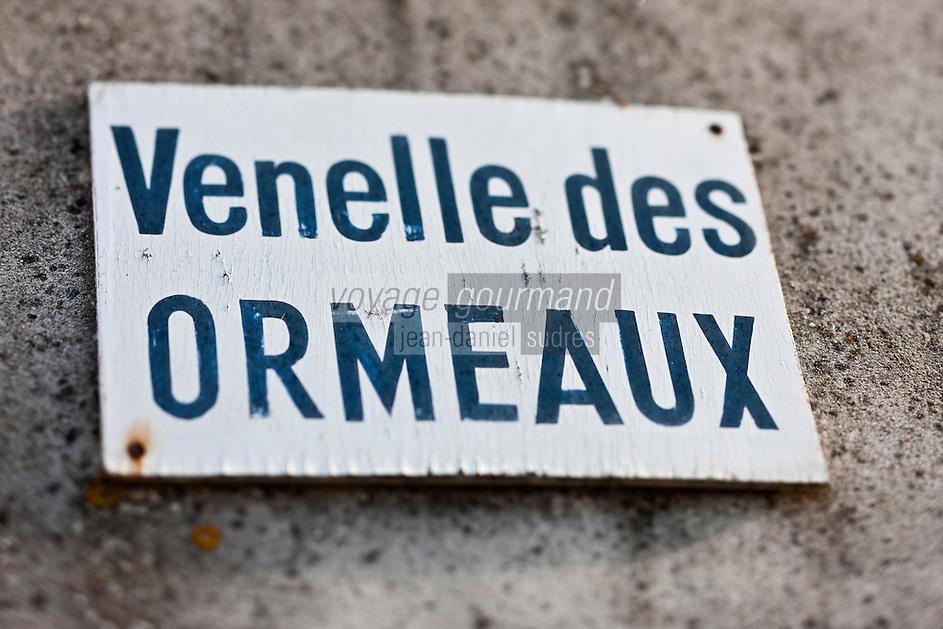 Europe/France/Poitou-Charentes/17/Charente-Maritime/Ile de Ré/Ars-en-Ré: Plaque de la venelle des Ormeaux