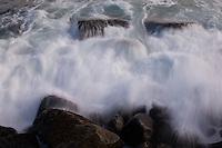Waves at Crystal Crecent beach Nova Scotia