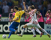 Brazilian forward Kaka (8) kicking the winning goal against Croatia. Brazil defeated Croatia 1-0 in their FIFA World Cup Group F match at the  Olympiastadion, Berlin, Germany, June 13, 2006.