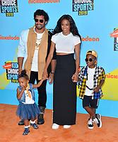SANTA MONICA, USA. July 11, 2019: Ciara & Russell Wilson at Nickelodeon's Kids' Choice Sports Awards 2019 at Barker Hangar.<br /> Picture: Paul Smith/Featureflash