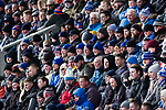 Oldham fans wrapped up for the cold weather. Oldham v Portsmouth League 1