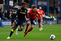 17th October 2020; Kenilworth Road, Luton, Bedfordshire, England; English Football League Championship Football, Luton Town versus Stoke City; Tyrese Campbell of Stoke City takes on Glen Rea of Luton Town