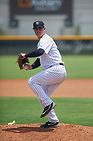 GCL Yankees West pitcher Austin Gardner (30) delivers a pitch on the side field during the second game of a doubleheader against the GCL Yankees East on July 19, 2017 at the Yankees Minor League Complex in Tampa, Florida.  GCL Yankees West defeated the GCL Yankees East 3-1.  (Mike Janes/Four Seam Images)