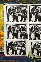 """Europe/ile de France/Paris/75011:rue Crespin Du Gast, Street Art en faveur de la Biodiversité -  L'éléphant de forêt d'Afrique rejoint ce jeudi 25 mars 2021 la longue liste des espèces classées """"en danger critique d'extinction"""" par l'Union internationale pour la conservation de la nature (UICN).  // Europe / Ile de France / Paris / 75011: rue Crespin Du Gast, Street Art in favor of Biodiversity - The African forest elephant joins this Thursday March 25, 2021 the long list of species classified """"in critical danger of extinction """"by the International Union for the Conservation of Nature (IUCN)."""