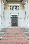 Europe, Austria, Vienna, Secession Hall Entrance (Wiener Secessionsgebäude) designed by Joseph Maria Obrich in 1897.  Famous example of secession style art nouveau architecture