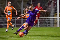 Anderlecht defender Laura Deloose (14) and defender Lindsey Van Belle (14) pictured during a female soccer game between RSC Anderlecht Dames and AA Gent Ladies on the seventh matchday of the 2020 - 2021 season of Belgian Womens Super League , friday 13 th of November 2020  in Overijse , Belgium . PHOTO SPORTPIX.BE | SPP | STIJN AUDOOREN