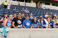 Chicago, IL - Saturday July 30, 2016: Fans prior to a regular season National Women's Soccer League (NWSL) match between the Chicago Red Stars and FC Kansas City at Toyota Park.