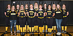 April 27, 2017- Tuscola, IL- The 2017 Warrior Junior Varsity Softball team. Back row from left are Grace Voyles, Sidney Watson, Grace Dietrich, Allison Clark, Claire Ring, Ashton Smith, and Lainey Banta. Front row from left are Morgan Jones, Kyra Moyer, Abbey Jacob, Carissa Denny, Caroline Rominger, and Jackie Watson. [Photo: Douglas Cottle]