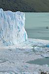 The Perito Moreno Glacier located in the Los Glaciares National Park in southwest Santa Cruz province, Argentina.