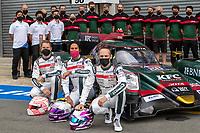 #28 JOTA Oreca 07 - Gibson LMP2, Sean Gelael, Stoffel Vandoorne, Tom Blomqvist, 24 Hours of Le Mans , Group Photo, Circuit des 24 Heures, Le Mans, Pays da Loire, France