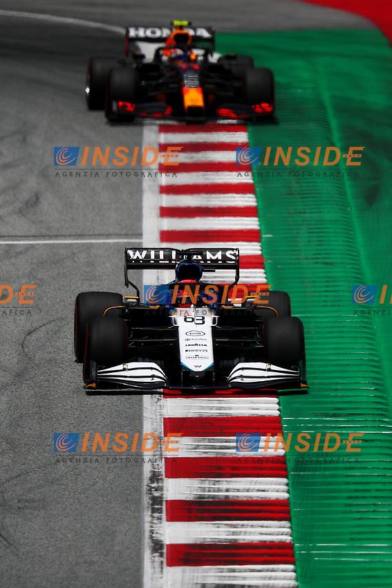 #63 George Russel, Williams Racing Mercedes. Formula 1 World championship 2021, Styrian GP 2021, 26 June 2021<br /> Photo Federico Basile / Insidefoto
