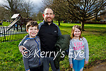 Enjoying the playground in the Tralee town park on Sunday, l to r: Kylan, Peter and Ruby O'Carroll.