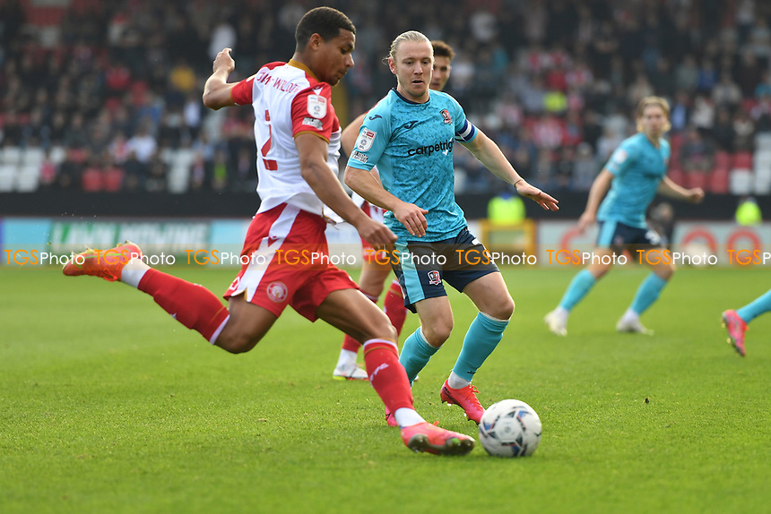 Luther Wildin of Stevenage FC during Stevenage vs Exeter City, Sky Bet EFL League 2 Football at the Lamex Stadium on 9th October 2021