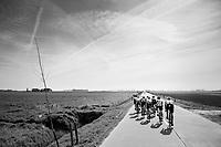 early breakaway group in the infamous (windy) Moeren<br /> <br /> 79th Gent-Wevelgem 2017 (1.UWT)<br /> 1day race: Deinze › Wevelgem - BEL (249km)