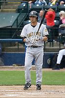 June 1, 2008: Salt Lake Bees' Freddy Sandoval at-bat against the Tacoma Rainiers at Cheney Stadium in Tacoma, Washington.