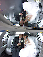May, 2004  limo ride after the wedding in Massachussets