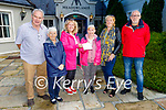 Sharon Roche presents a cheque for €500 on behalf of Open Arms Kerry from her recent head shave to the Phoenix Women's Centre, in the Meadowlands Hotel on Tuesday. L to r: Cormac Williams, Philomena Duggan, Mandy Landers (Phoenix Women's Centre), Sharon Roche, Marion Fitzgerald (Phoenix Women's Centre) and Ger Collins (Open Arms Kerry).