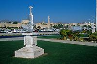 Nizwa, Oman.  Khanjar Sculpture in a Traffic Roundabout.