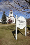 Gilmanton Town Common during the autumn months. Located in Gilmanton,  New Hampshire USA....