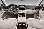 Stock photo of straight dashboard view of 2016 BMW 7-Reeks-Berline 4 Door Sedan Dashboard
